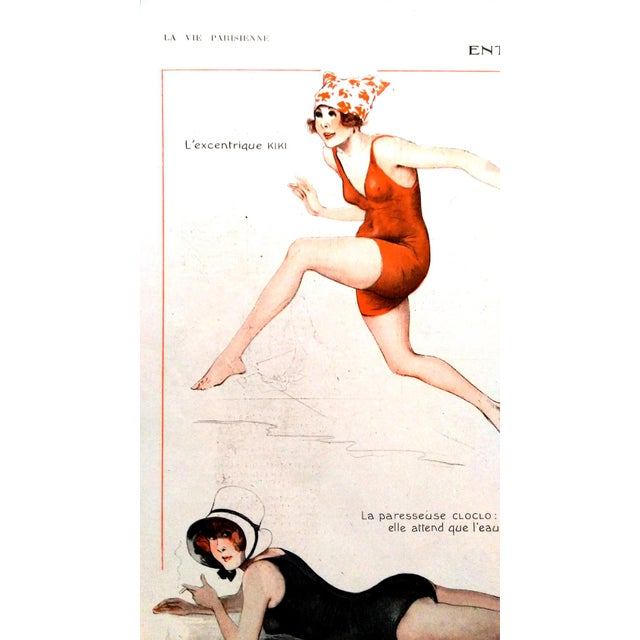 1918 La Vie Parisienne Bathing Beauty Print - Image 4 of 7