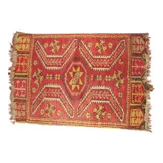 Caucasian Mafrash (Soumak Panel) Accent Kilm Rug - 1′10″ × 2′7″ For Sale