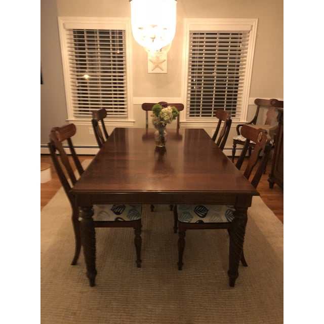 Ethan Allen Modern Ethan Allen British Classic Dining Set For Sale - Image 4 of 10