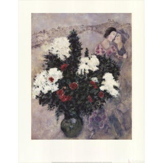 "Marc Chagall ""White Lilacs"" 1997 Poster"