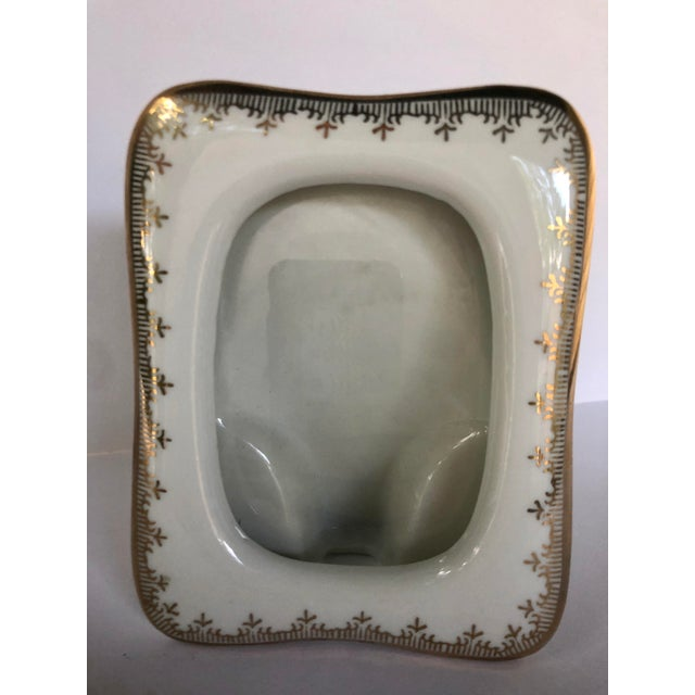 Vintage Japanese Gilt Porcelain Picture Frame For Sale - Image 4 of 7