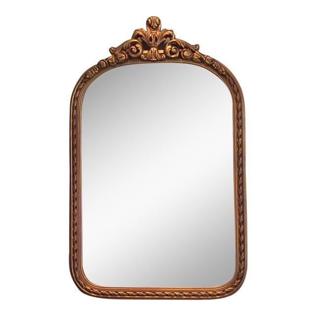 Antique Gilt Carved Arched Mirror - Image 1 of 6