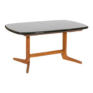 Teak With Lacquered Top Dining Table