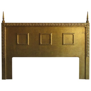 Neoclassical Gilt King Size Headboard, Circa 1960s For Sale