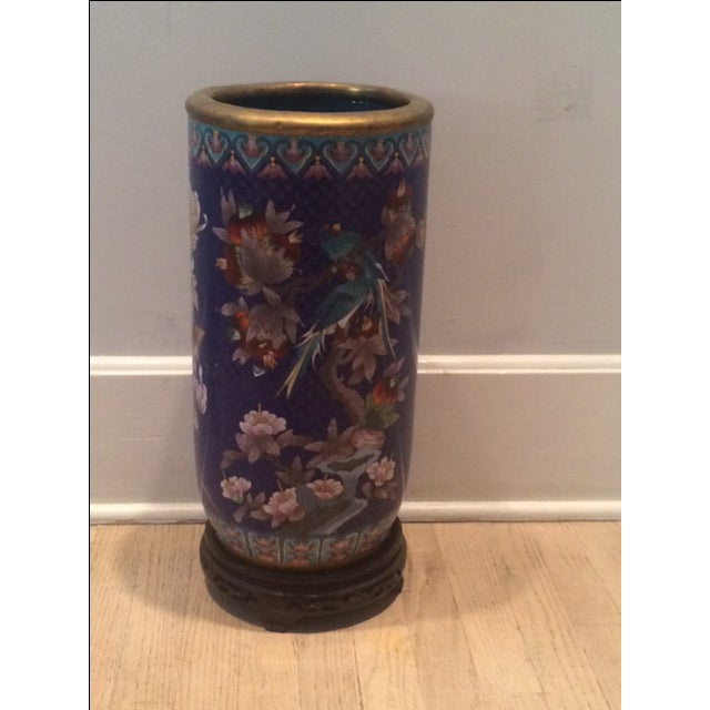 Cloison Stand Of Chinese Collectable Cloisonne Umbrella Stand Chairish