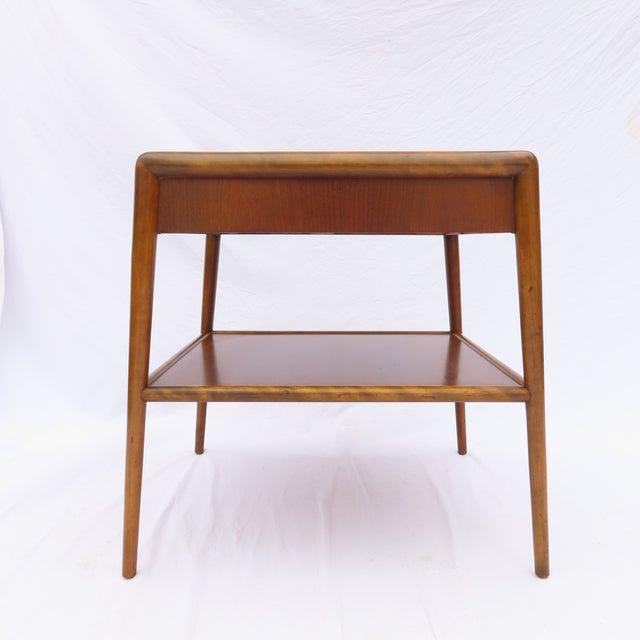 t.h. Robsjohn-Gibbings for Widdicomb Tapered Single Drawer Side Table For Sale - Image 10 of 10