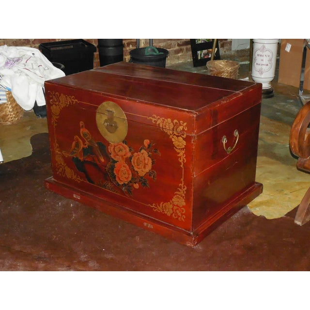 Painted and Gilt Chinese Trunk C.1925 - Image 7 of 8