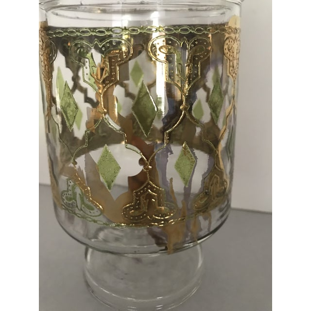 """Green Culver """"Valencia"""" Gilt Footed Containers - Pair For Sale - Image 8 of 10"""