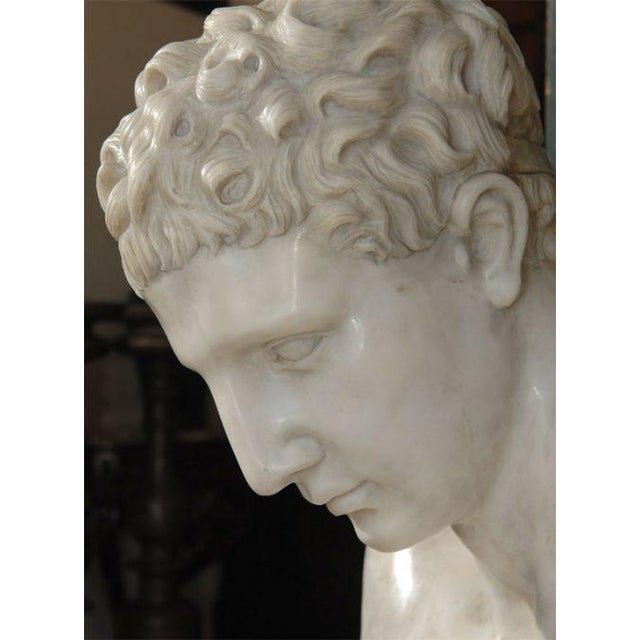 Large Marble Hermes Bust For Sale - Image 4 of 9
