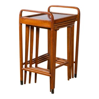 1905 Beechwood Nesting Tables - Set of 4 For Sale