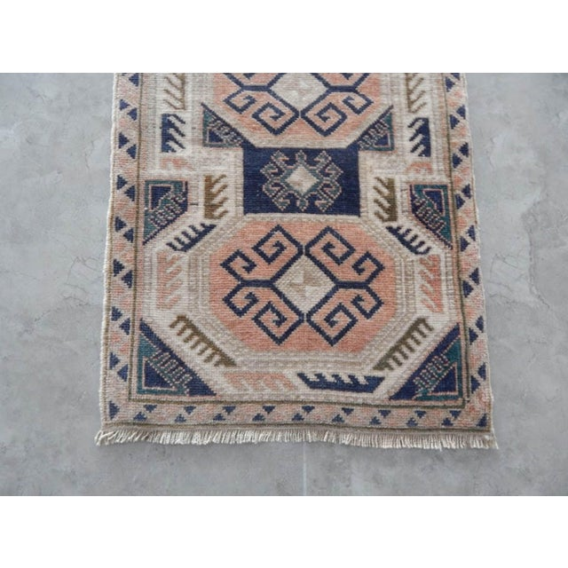 1970s 1970s Vintage Rug Hand Made Rug- 1′9″ × 3′2″ For Sale - Image 5 of 7