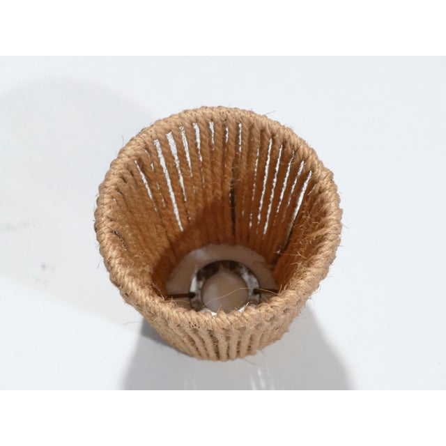 Brown Set of Three Audoux Minet Small Rope Shades, 1960s For Sale - Image 8 of 9