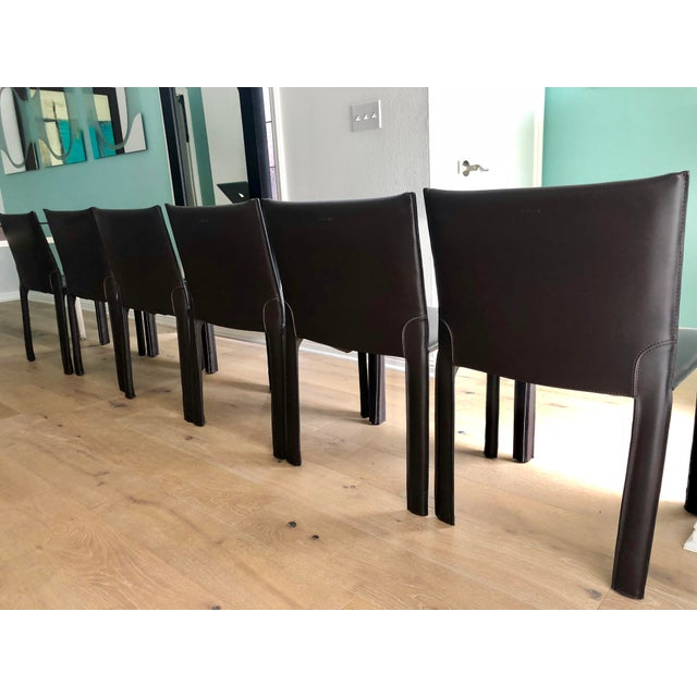 leather cantoni chairs set of 6 chairish