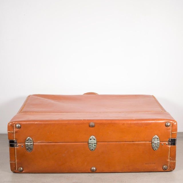 "Vintage ""The Colonel"" Leather Luggage C.1950-1960 For Sale - Image 9 of 13"