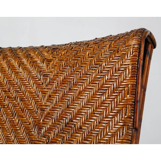Adjustable Bamboo and Rattan Garden Chaise, Germany, 1920s-1930s For Sale - Image 10 of 10