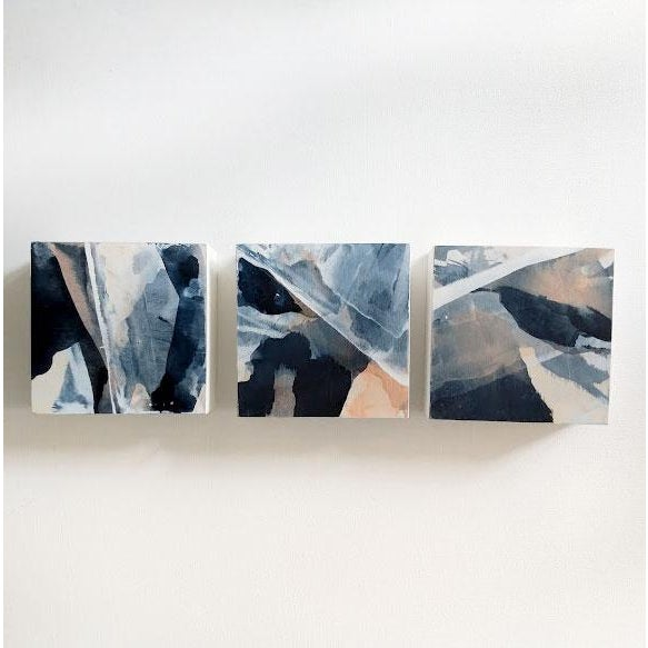 "2010s ""Fractured Landscapes"" Triptych For Sale - Image 5 of 6"