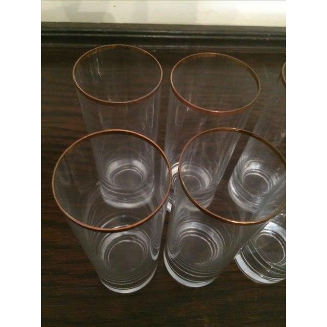 Vintage Gold Rimmed Tom Collins Glasses - Set of 6 - Image 3 of 3