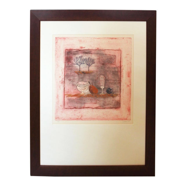 Late 20th Century Vintage Louttie Modern Still-Life Etching Print For Sale