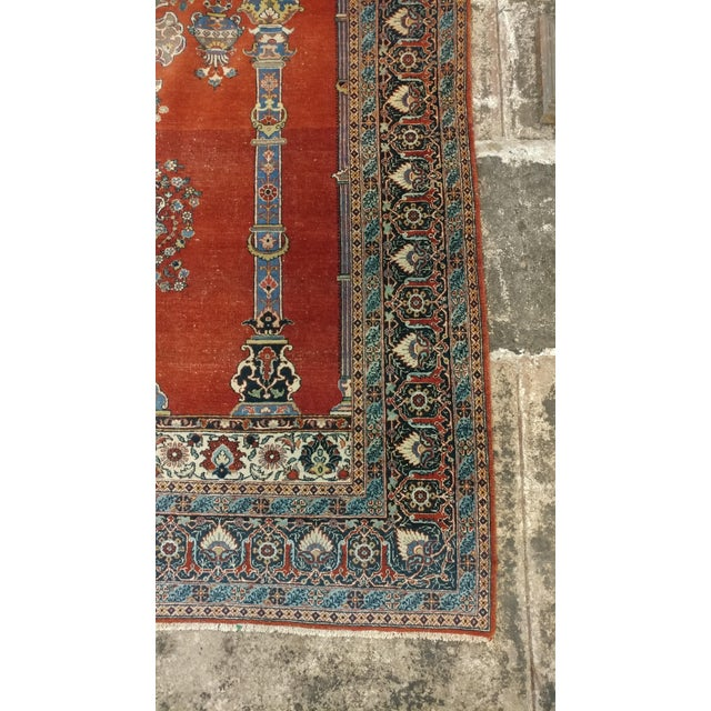 Antique Hand Made Persian Mashhad Rug - 4′4″ × 7′ For Sale In Los Angeles - Image 6 of 10