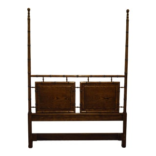 Vintage Asian Century Furniture Queen Size Headboard For Sale
