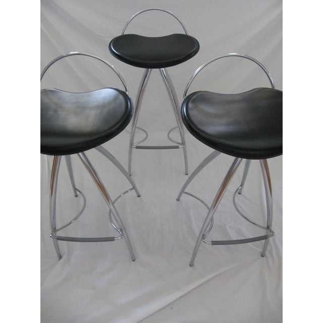 Cattelan Italian Leather Counter Stools- Set of 3 - Image 4 of 9