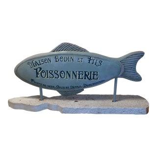 Maison Bodin Et Fils Poissonnerie Advertising Piece For Sale