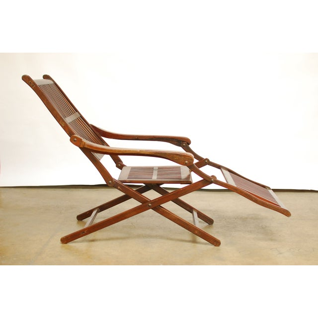 Antique Ocean Steamer Deck Chair - Image 7 of 7 - Antique Ocean Steamer Deck Chair Chairish