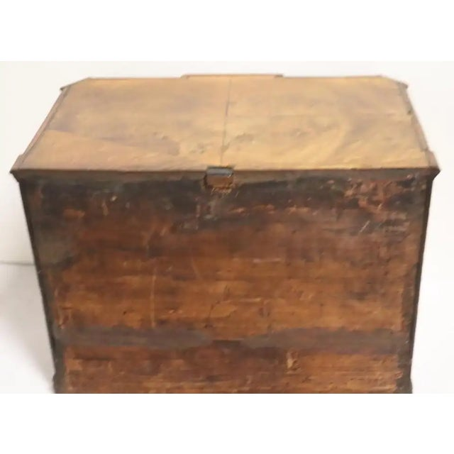 Wood Early 19th Century Italian Neoclassical Fruitwood Jewelry or Silver Chest For Sale - Image 7 of 8