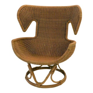 Rattan Lounge Chair by Salvatore Fiume, Italy, 1970s For Sale