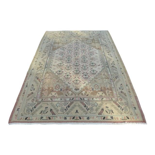 Handmade Aantolian Area Rug - 5′3″ × 9′3″ For Sale