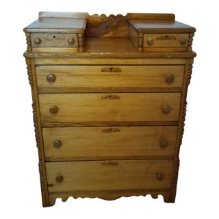 19th Century Drop Center With 2 Glove Drawers Chest of Drawers