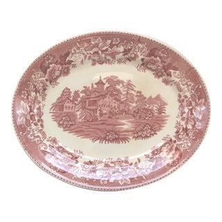 Thos. Hughes & Sons England Pink Transfer Ware Platter