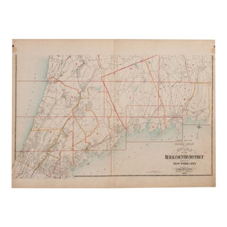 Antique Northern Westchester County Ny Map For Sale