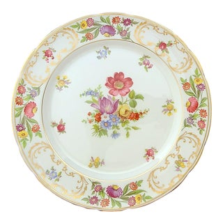 "Dresden Sprays English Fine Bone China Hammersley Pattern 9 1/2"" Dinner Plate For Sale"