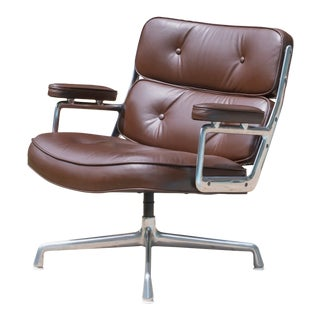 Eames Time-Life Lobby Chair in Leather by Charles & Ray Eames for Herman Miller For Sale