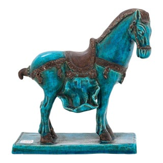Blue Terracotta Tang Horse For Sale
