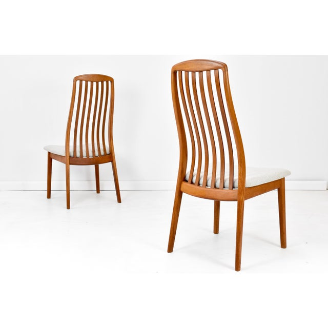 1960s Danish Modern Teak Dining Chairs by Edward Valentinsen - Set of Six For Sale - Image 5 of 13