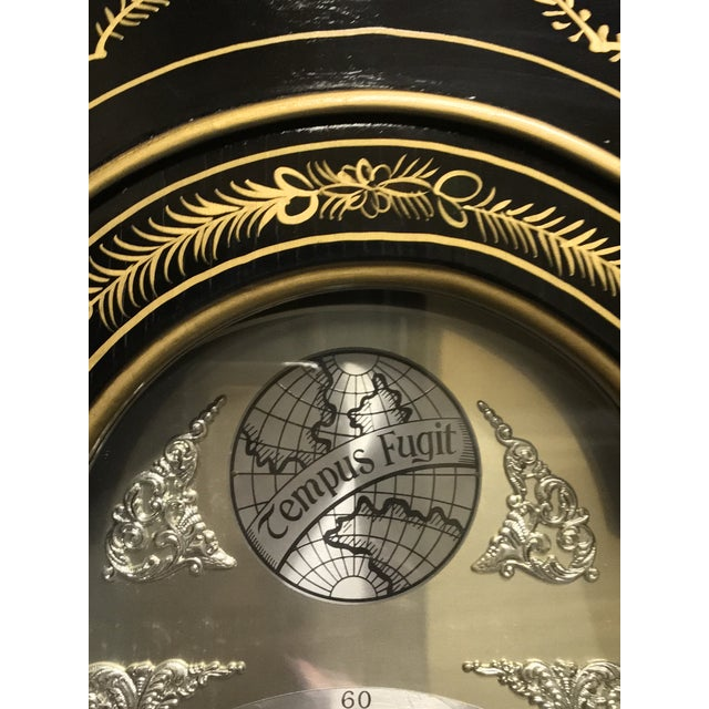 Chinoiserie Tempus Fugit Grandfather Clock - Image 4 of 10