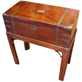 George III Lap Desk on Custom Stand For Sale