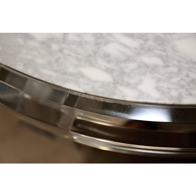 Lucite and Marble-Top Coffee Table For Sale - Image 4 of 8