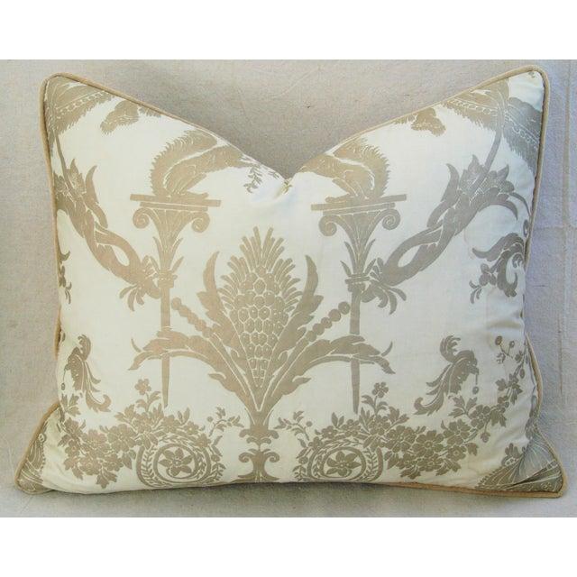 Designer Italian Fortuny Lamballe Pillows - Pair - Image 7 of 11