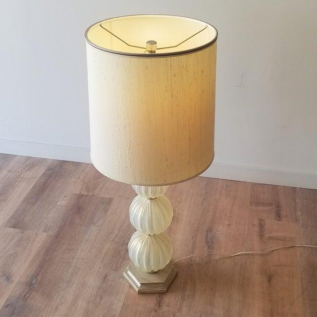 Mid-Century Modern Mid 20th Century Italian Murano Aventurina Glass Table Lamp For Sale - Image 3 of 13