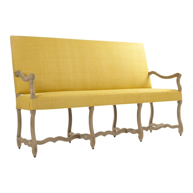 Moor Bench in Small in Mustard For Sale