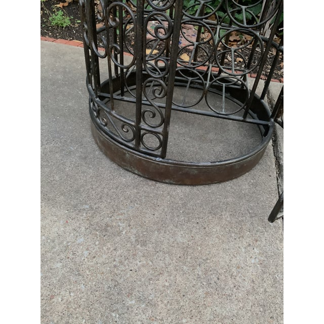 Maitland-Smith Copper Domed and Iron Wine Rack For Sale - Image 11 of 12