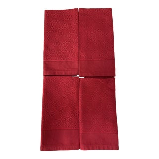 Williams Sonoma Red Napkins - Set of 4 For Sale
