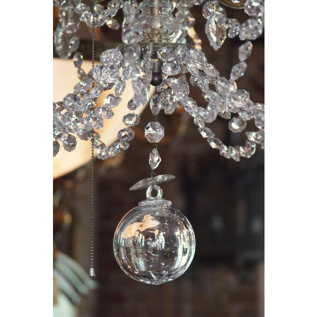 Antique French Crystal And Bronze 16-light Chandelier. For Sale - Image 4 of 9