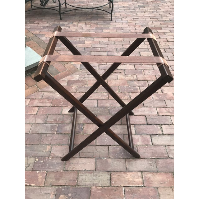 Mahogany English Butlers Tray on Folding Stand, Perfect for Bar Setup For Sale - Image 7 of 12
