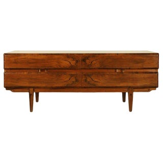 1950s Mid-Century Modern Highly Figured Walnut Sideboard For Sale