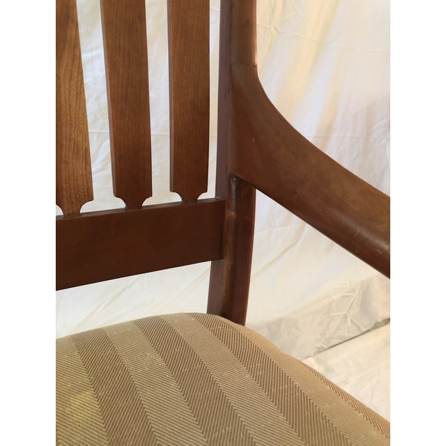 Wood Robert R. Jamieson Vintage Handcrafted Arm Chair For Sale - Image 7 of 13