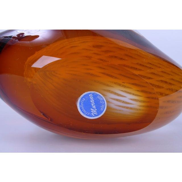 Murano Glass Amber & Yellow Swan - Image 10 of 10